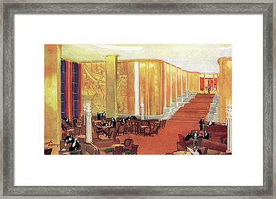 A View Of The Luxurious And Spacious Framed Print by Mary Evans Picture Library