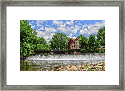 Framed Print featuring the photograph A View Of The Mill From The River by Debra Fedchin