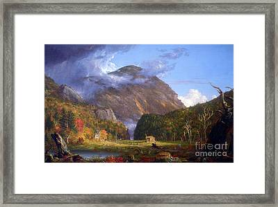 A View Of The Mountain Pass Called The Notch Of The White Mountans By Thomas Cole Framed Print