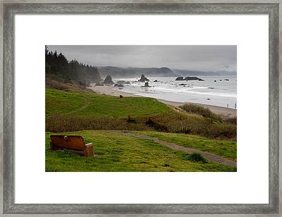 A View Of The Ocean  Framed Print by Margaret Buchanan