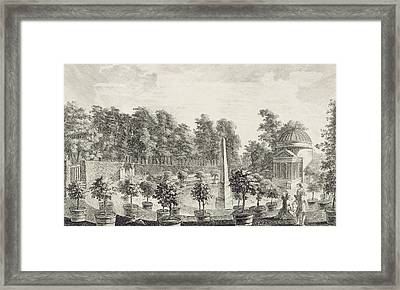 A View Of The Orangery Framed Print by Pieter Andreas Rysbrack