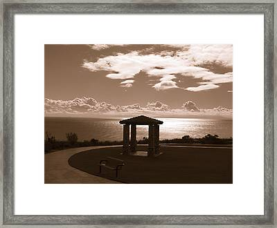A View Of The Pacific Framed Print