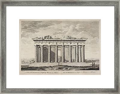 A View Of The Parthenion Framed Print by British Library