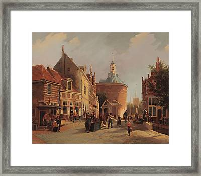 A View Of The Zuiderspui Framed Print