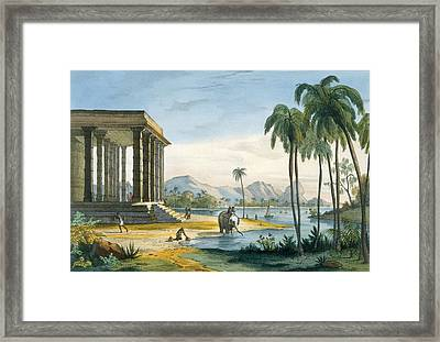 A View Of Tinnevely, Illustration Framed Print