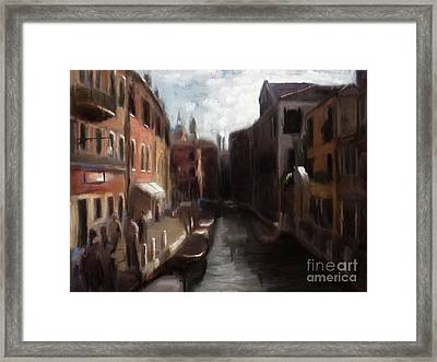 A View Of Venice Framed Print
