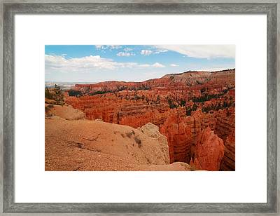 A View On The Edge Framed Print by Jeff Swan