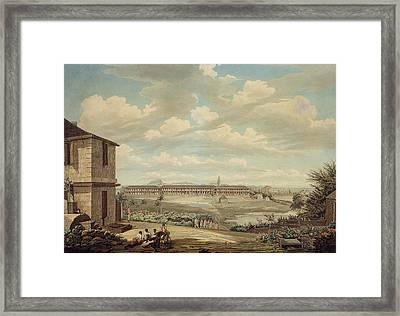 A View On The Island Of Antigua The English Barracks And St. Johns Church Seen From The Hospital Framed Print by Thomas Hearne