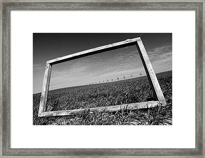 A View Through The Window Framed Print by Marcin Delektowski