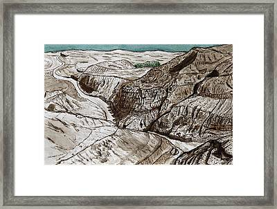 a view to the Dead Sea. Framed Print