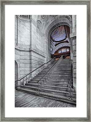 A View To The Mcgraw Rotunda Nypl Framed Print by Susan Candelario