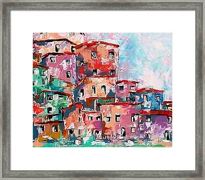 A Village By The Sea Framed Print by Robert Stagemyer