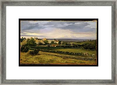 A Village In A Valley Framed Print by Th�odore Rousseau