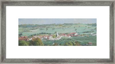 A Village In Provence France Framed Print