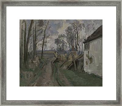 A Village Road Near Auvers, 1872-73 Framed Print by Paul Cezanne