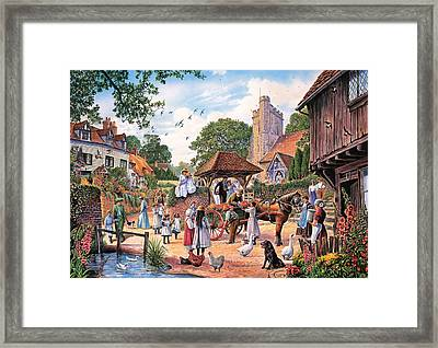 A Village Wedding Framed Print by Steve Crisp