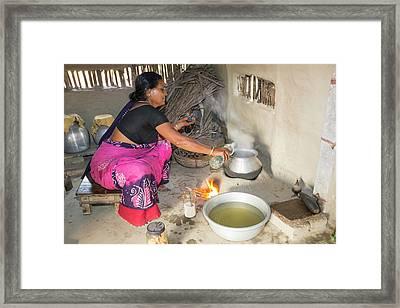 A Villager Woman Framed Print