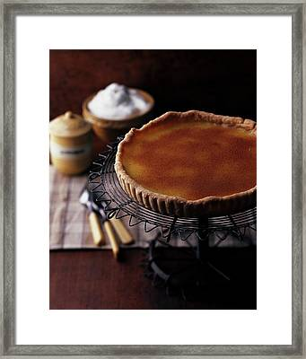 A Vinegar Pie On A Wire Stand Framed Print
