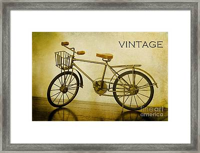 A Vintage Bike Framed Print