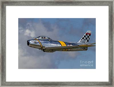 A Vintage F-86 Sabre Of The Warbird Framed Print by Rob Edgcumbe
