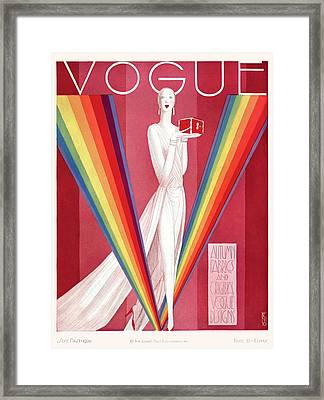A Vintage Vogue Magazine Cover Of A Mannequin Framed Print
