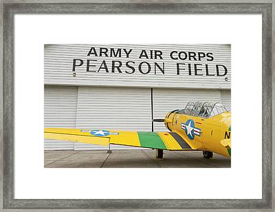 A Vintage World War II Military Trainer Framed Print