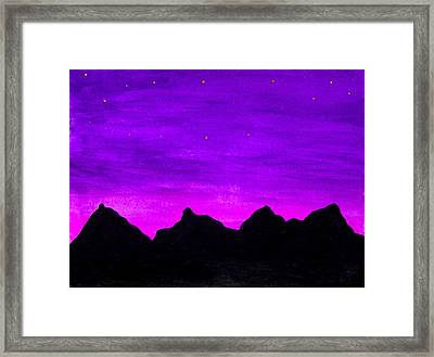 A Violet Dream Framed Print