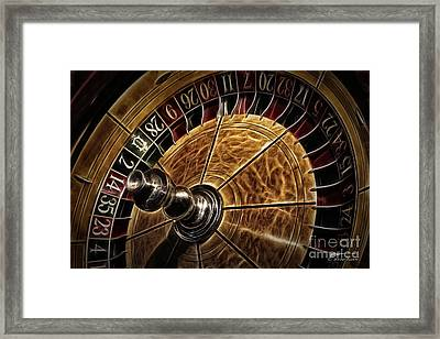 Framed Print featuring the photograph A Virginia City Roulette Wheel by Brad Allen Fine Art