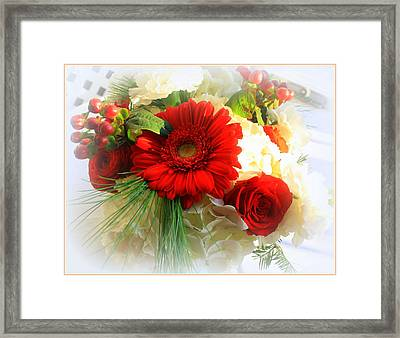 A Vision In Red Framed Print by Dora Sofia Caputo Photographic Art and Design