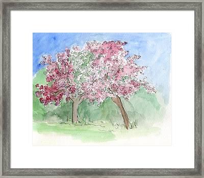 A Vision Of Spring Framed Print