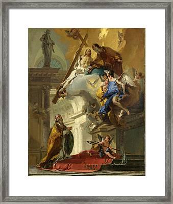 A Vision Of The Trinity Framed Print by Giovanni Battista Tiepolo