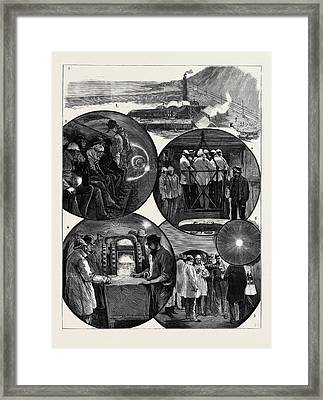 A Visit To The Channel Tunnel 1. View Of The Surface Works Framed Print by English School
