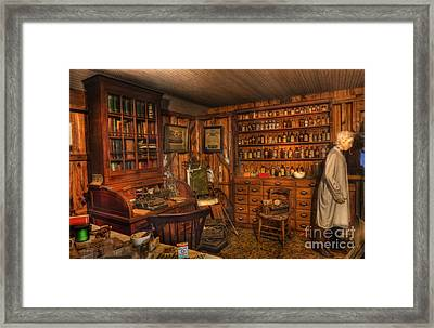 A Visit To The Doctor's Office - Old Time Physician Office - Doctors - Pharmacists - Opticians Framed Print by Lee Dos Santos