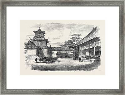 A Visit To The Tycoon Of Japan A Detachment Of The 9th Framed Print by Japanese School