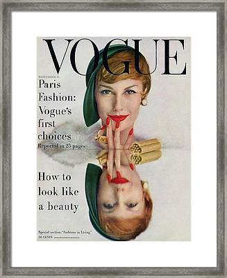 A Vogue Cover Of Mary Jane Russell Framed Print by John Rawlings
