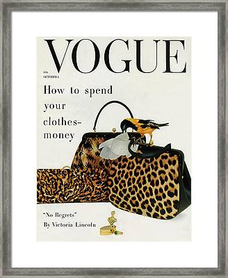 A Vogue Cover Of Nettie Rosenstein Handbags Framed Print