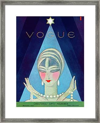 A Vogue Magazine Cover Of A Wealthy Woman Framed Print