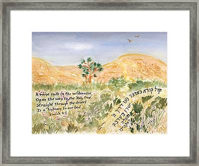 Framed Print featuring the painting A Voice Calls by Linda Feinberg