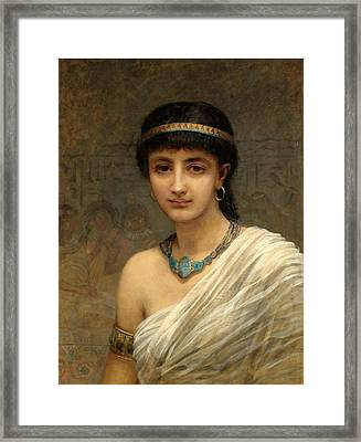 A Votary Of Isis Framed Print by Edwin Longsden Long