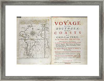A Voyage To The South Sea Framed Print by British Library