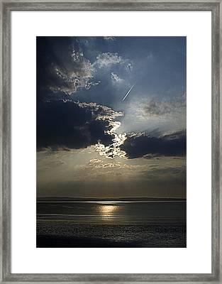 A Walk Along The Beach Framed Print by Tony Reddington