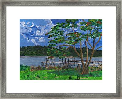 A Walk By Lake Clay Framed Print