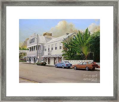 Framed Print featuring the painting A Walk Down Caroline Street by Bob  George
