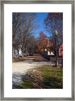 A Walk Down History Lane Framed Print