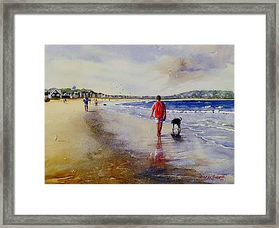 A Walk For Riley Girl Framed Print by Laura Lee Zanghetti