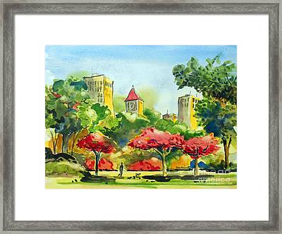 A Walk In City Park Framed Print