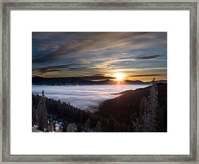A Walk In Heaven Framed Print