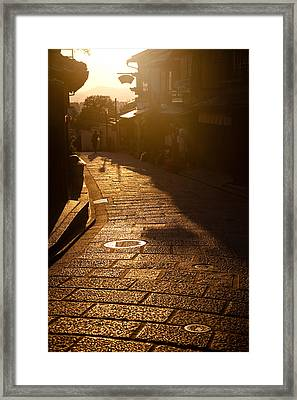 Framed Print featuring the photograph A Walk In Kyoto by Brad Brizek