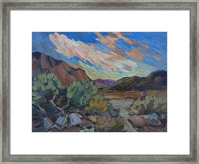 A Walk In La Quinta Cove 2 Framed Print