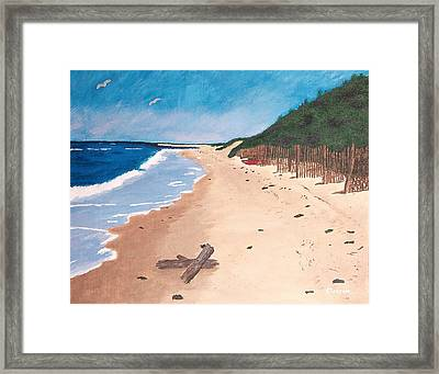 A Walk In Nantucket Framed Print